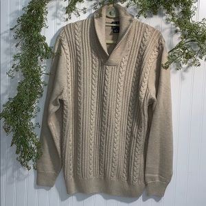 Jos. A. Bank Cable Knit Sweater 100% Cotton